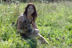 Sabrina Lohse Tierfotografie Portfolio Hunde  Deutscher Schäferhund Rex mit Frauchen